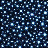 Sparkling Stars in Dark Vector Background. Abstract Magic Texture Stock Photo