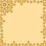 Sparkling Stars Frame Royalty Free Stock Photography