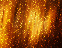 Sparkling stars on golden abstract background Stock Image