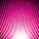 Sparkling stars on magenta light burst Stock Images