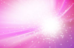 Sparkling stars on pink light  background Royalty Free Stock Photos