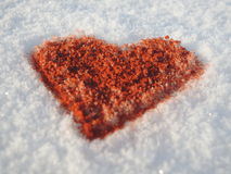 Sparkling strong love - snow and chili Stock Photos