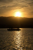 Sparkling sunset glow of the Summer Palace Stock Photography