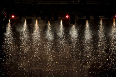 Sparkling theatre lights. Beautiful sparkling spotlights in theatre royalty free stock photos