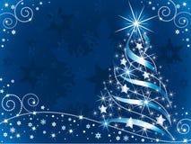sparkling tree för jul stock illustrationer