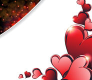 Sparkling Valentines Day  hearts Stock Photography