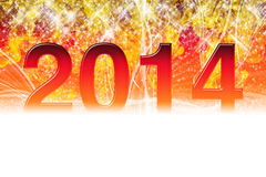 2014 sparkling wallpaper Stock Image