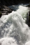 Sparkling water of the Krimml Falls, Austria Royalty Free Stock Photography