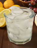 Sparkling water with lemon Royalty Free Stock Image