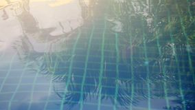 Sparkling Water loops in a swimming pool. 3840x2160. 4k. Sparkling Water Loop in a swimming pool stock video footage