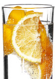 Sparkling water with orange Royalty Free Stock Image