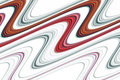 Sparkling wave soft silvery red lines, blurred creative design. Sparkling waves like lines, soft gold red silver background and lights on white background. The stock illustration