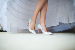 Sparkling Wedding Shoes Royalty Free Stock Image