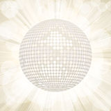 White disco ball starburst background Royalty Free Stock Photography