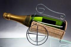 Sparkling White Wine Bottle Stock Photo