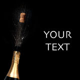 Sparkling wine. With blank area for your text stock photos
