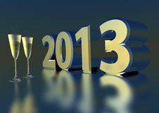 Sparkling wine for 2013 Stock Photos