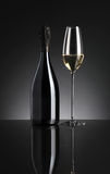 Sparkling wine. On dark background stock images