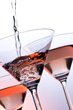Sparkling wine. In the high transparence glasses stock images