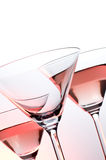 Sparkling wine. In the high transparence glasses royalty free stock images