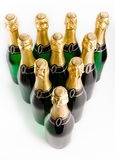 Sparkling wine bottles Stock Photography