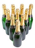 Sparkling wine bottles .New Year's still life on a white background Royalty Free Stock Image
