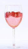 Sparkling wine champagne and strawberry Royalty Free Stock Photo