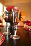 sparkling wine för exponeringsglas Arkivbilder