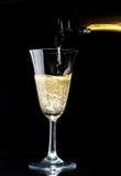 Sparkling wine glass Stock Photo
