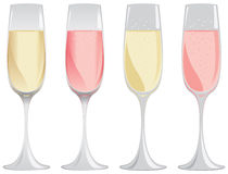 Sparkling wine glass Royalty Free Stock Photos