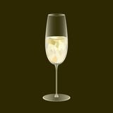 Sparkling wine glass. Low poly and transparency vector design. A. Lcohol drink symbol. Restaurant or bar promotional banner. Eps10 vector illustration Royalty Free Stock Images