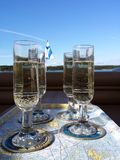 Sparkling wine glasses Royalty Free Stock Photos