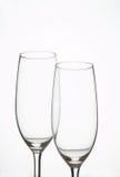 Sparkling Wine Glasses - Sektglaeser. Two sparkling wine glasses - 2 Sektfloeten stock photos