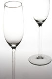 Sparkling Wine Glasses - Sektglaeser. Two sparkling wine glasses - 2 Sektfloeten royalty free stock photo