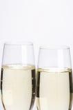 Sparkling Wine Glasses - Sektglaeser. Two glasses of sparkling wine - 2 Sektfloeten royalty free stock photography