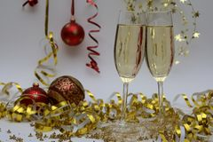 Sparkling wine at holiday Royalty Free Stock Photography