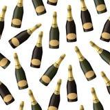 Sparkling wine seamless pattern Royalty Free Stock Image
