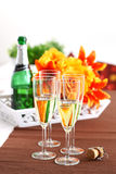 Sparkling wine on the table Stock Photos
