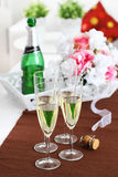 Sparkling wine on the table Royalty Free Stock Images