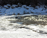 Sparkling Winter River Stock Photography