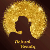 Sparkling woman with Afro vector illustration