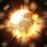 Sparkling World globe light explosion Stock Photos