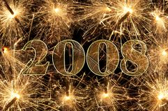 Sparkling year Stock Photography