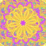 Sparkling yellow flower on a multicolor pastel background. Sparkling yellow flower multicolor pastel background illustration graphic design pattern seamless stock images