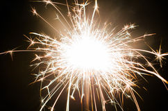 Sparklres. The sparklers at night time Stock Photos