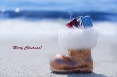 Sparkly ботинок яркого блеска океаном стоковое фото