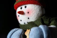 Sparkly снеговик на идти Стоковые Изображения