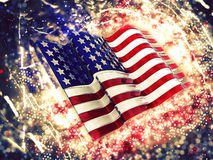 Sparkly American flag background. 3D American flag background with sparkle effect Royalty Free Stock Photos