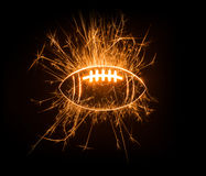 Sparkly American football Stock Photo