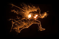 Sparkly American football player running Royalty Free Stock Photography